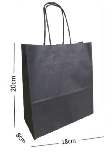 Navy Blue Paper Carrier Bags with Twisted Paper Handles 20 x 18 x 8 Size