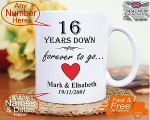16th wedding anniversary gift 16 years marriage, Any dates names any ...