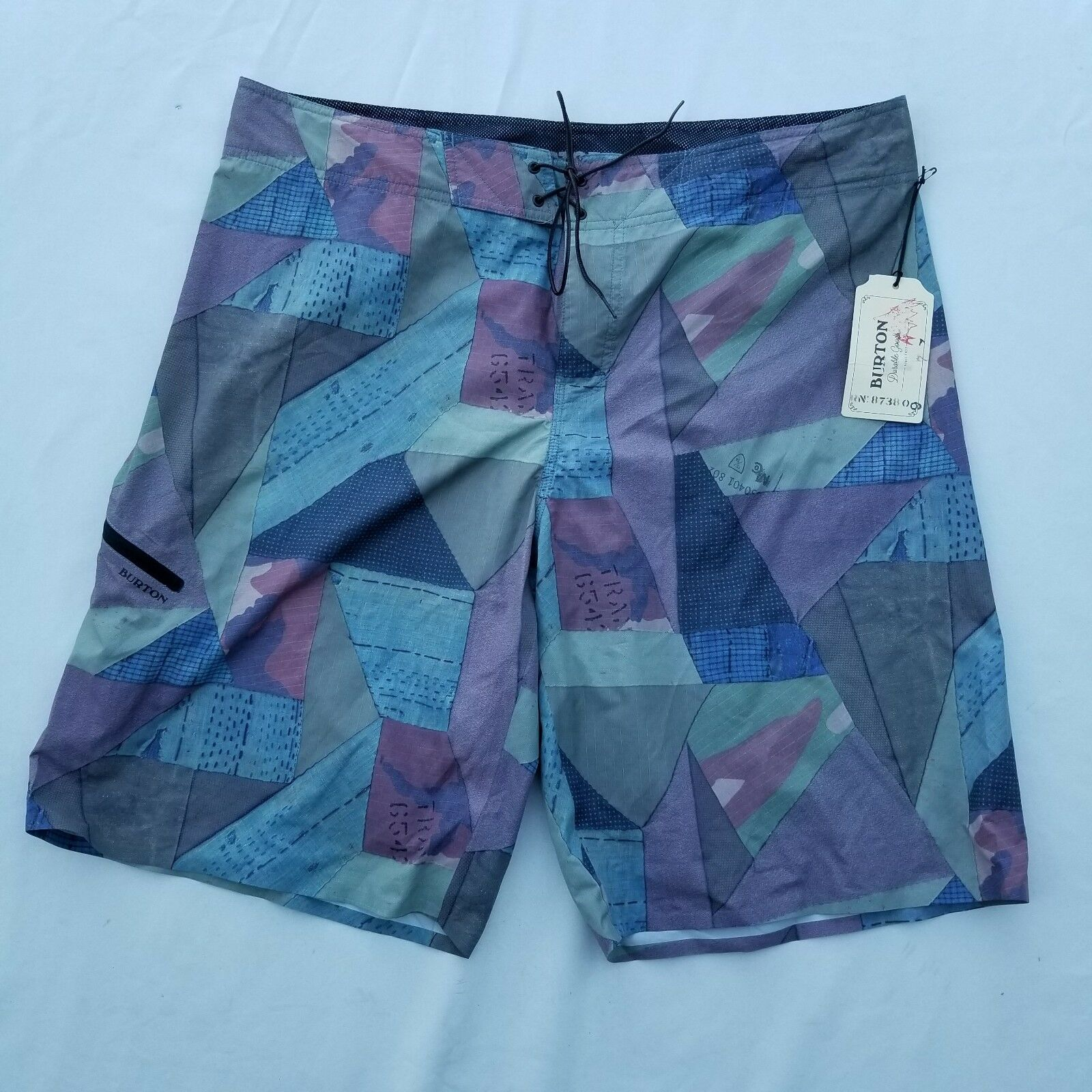 Burton Men's Board Shorts Sz 38 Polyester Abstract NWT Geo