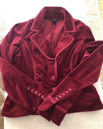White House Red Velvet Blazer Size 4  - image 1