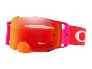 MASQUE-CROSS-OAKLEY-FRONT-LINE-MX-PINNED-RACE-COULEUR-ORANGE-ROUGE