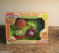 Pretend Food Play Set Hamburger Redbox Velcro Food And Accessories