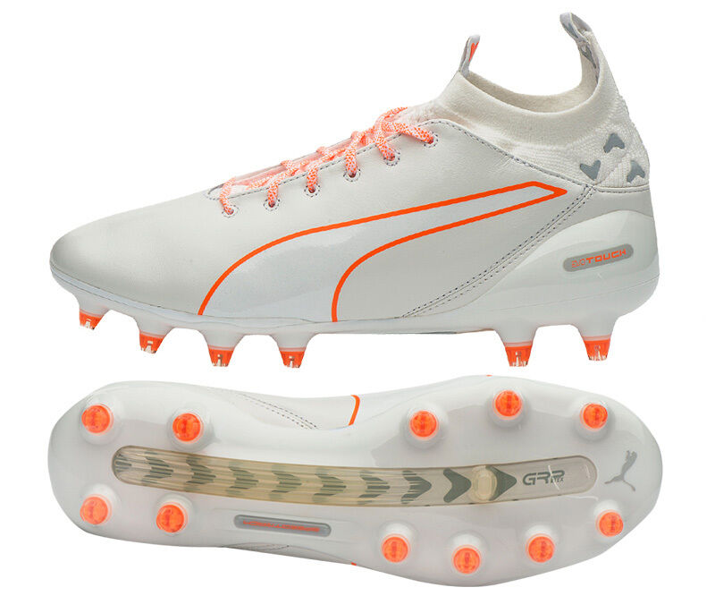 Puma Evo Touch Pro FG 10367104 Soccer Football Cleats shoes Boots White