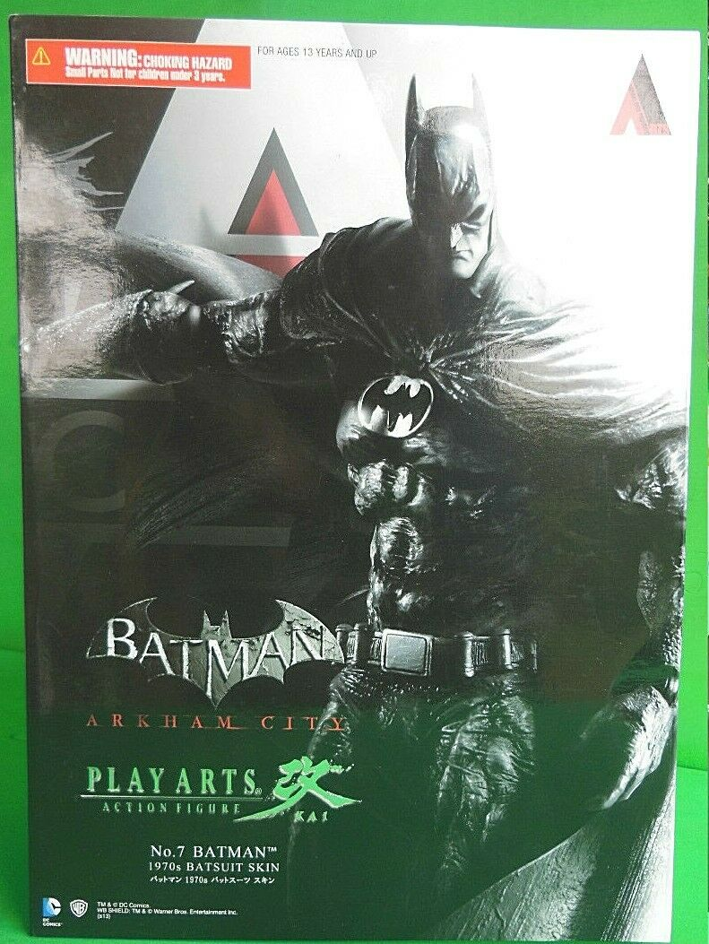 Batman Arkham City Play Arts Kai No 7 1970' S Batsuit Skin Classic Costume