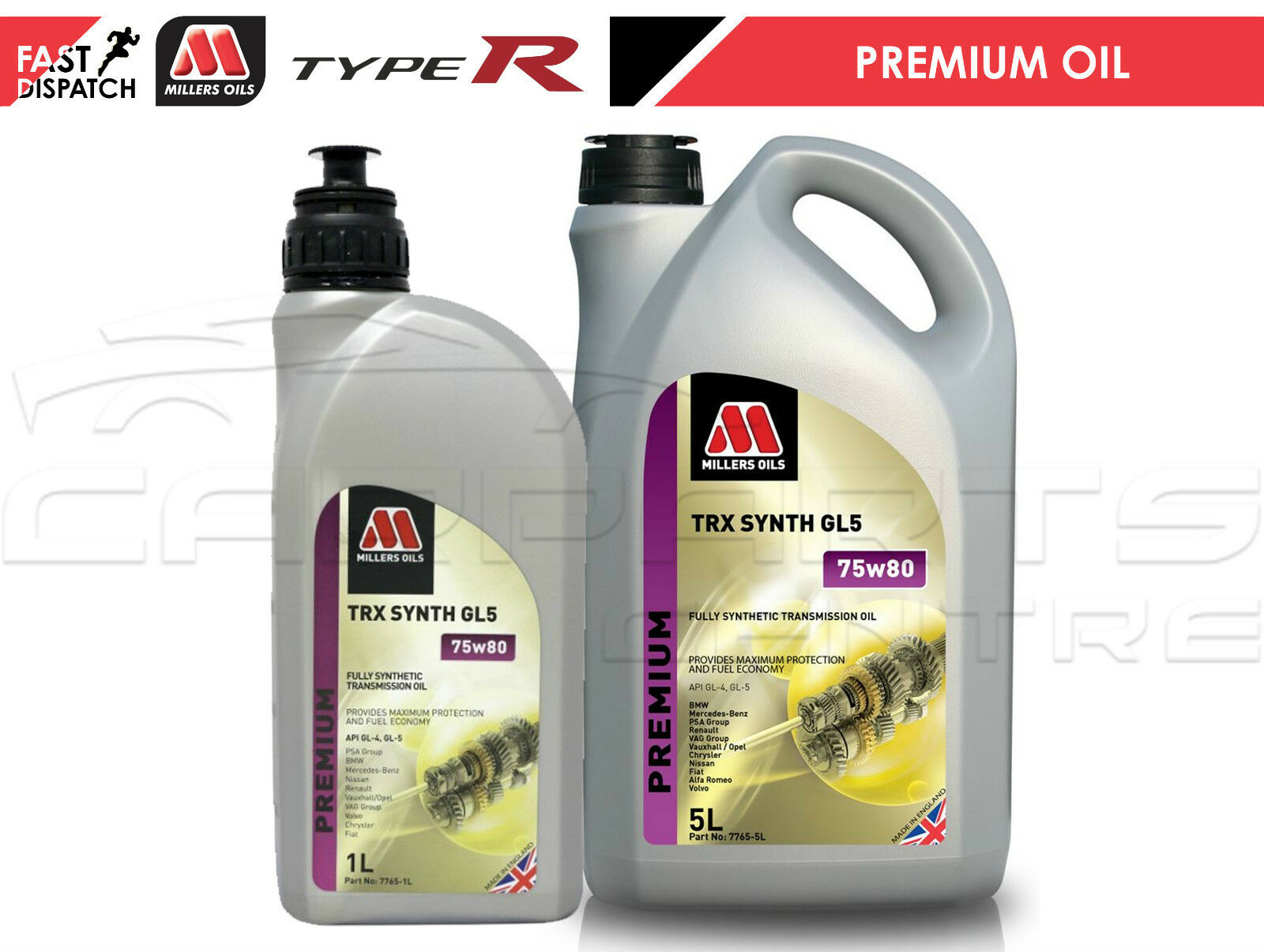 HONDA CIVIC 2.0 TYPE R EP3 MILLERS OIL MANUAL TRANSMISSION GEARBOX OIL FLUID