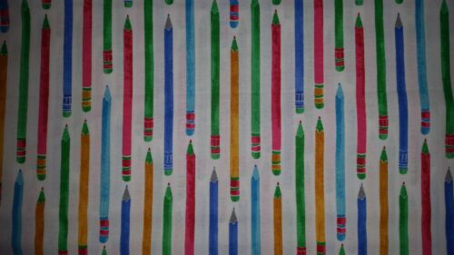Brand New Pencil Print Fabric