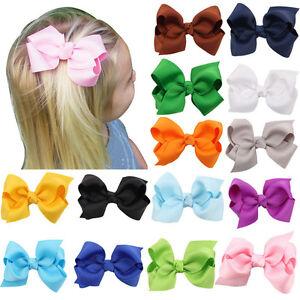 20pcs Baby Toddler Girl Hairpin Ribbon Bowknot Headwear Hair Clip Headband