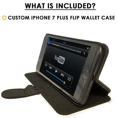 Flip Wallet Case iPhone 7 / 7 Plus-Card Holder+Stand- Ultimate Blue Fire Dragon