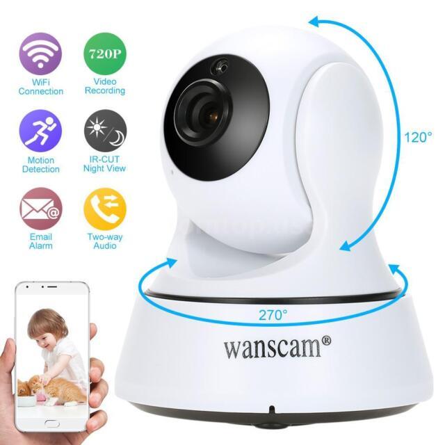 Wireless HD 720P Pan Tilt Security IP Camera IR Night Vision WiFi Webcam P2P EU