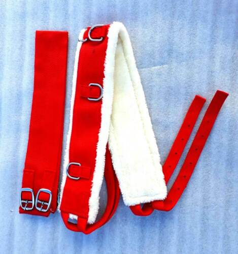 New  Nylon Lunge Roller Adjustable Lunging Training Soft Fleece full RED
