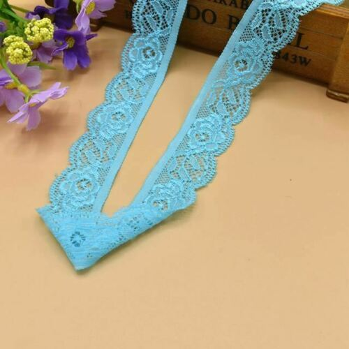 5 Yard Beautiful high quality elastic stretch lace ribbon french african lace tr