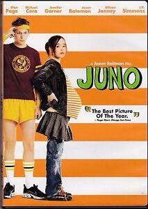 JUNO - DVD - ELLEN PAGE - MICHAEL CERA - JASON BATEMAN - JENNIFER GARNER -