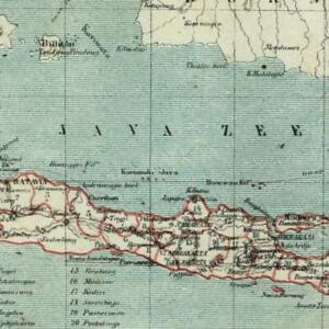 Java-Indonesia-1882-charming-small-Dutch-old-map