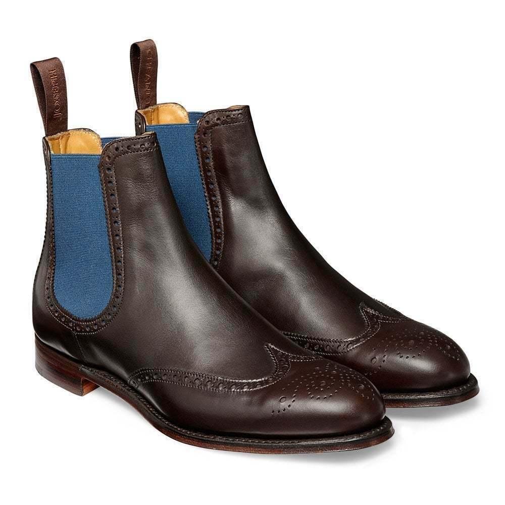 Homme Fait à la main bottes en cuir véritable Bottines Chelsea Oxford Richelieu à Bout D'aile Chaussure Nouveau