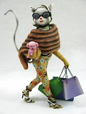"Alley Cats Margaret Le Van Figurine Kitty-O"" Shopping Glamour Rich and Idle"