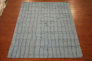 Moroccan-8X11-Hand-Knotted-Oriental-Area-Rug-Light-Blue-Wool-Carpet-8-x-10-8