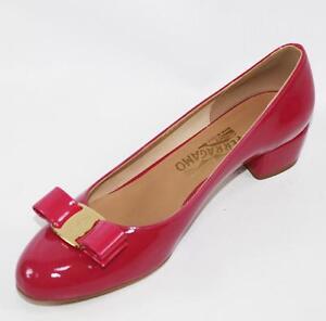 AUTH Salvatore Ferragamo Damens Vara 3cm Heel Agata Rosa Heel 3cm Pumps Schuhes 9d009d