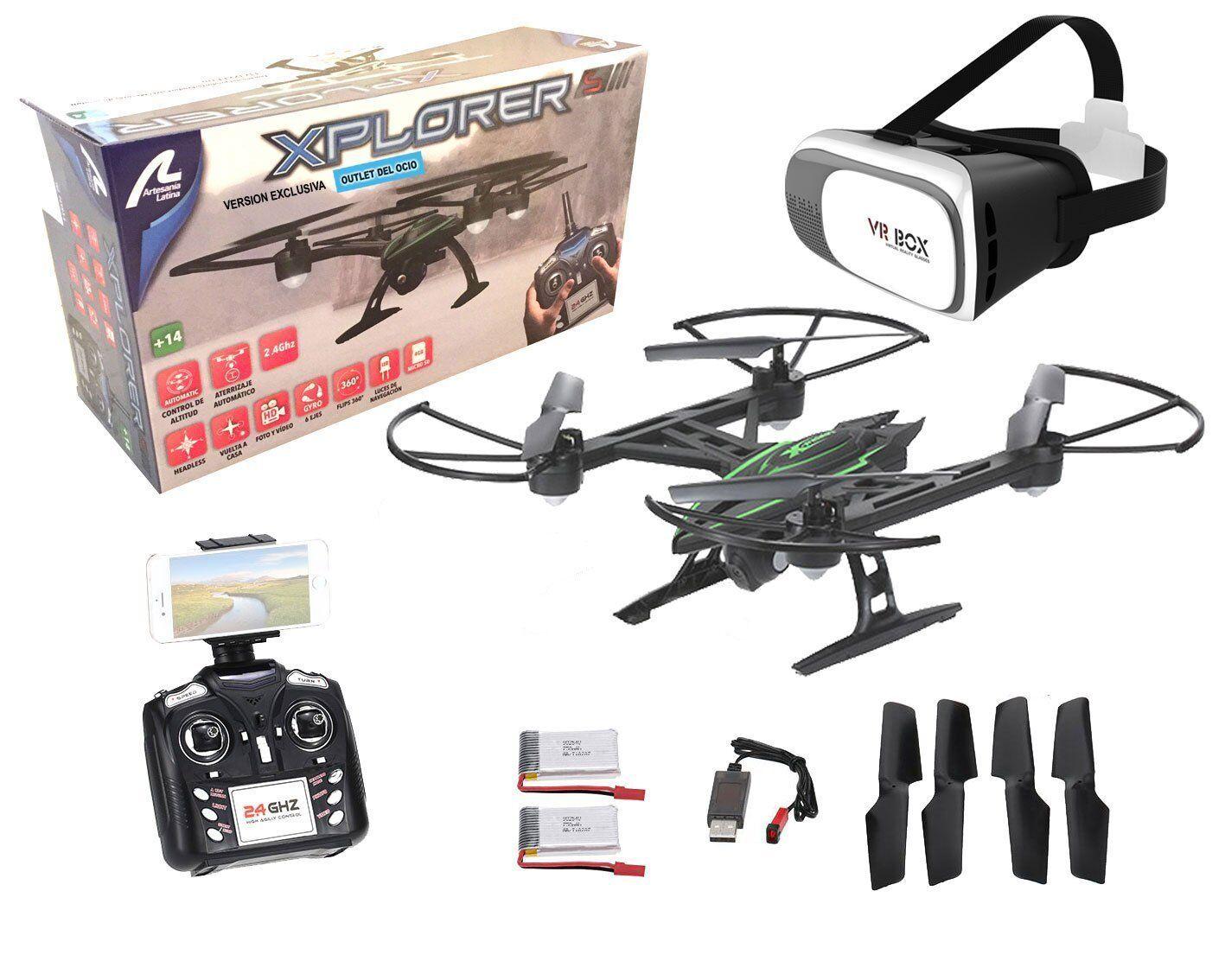 Drone radio control with camera Xplorer Wifi FPV+Glasses VR. Piloting real 2 bat