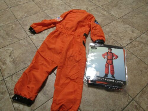 CHILD JUMPSUIT AND HAT ASTRONAUT FLIGHT COMMANDER NASA SIZE SMALL 6-8 40009