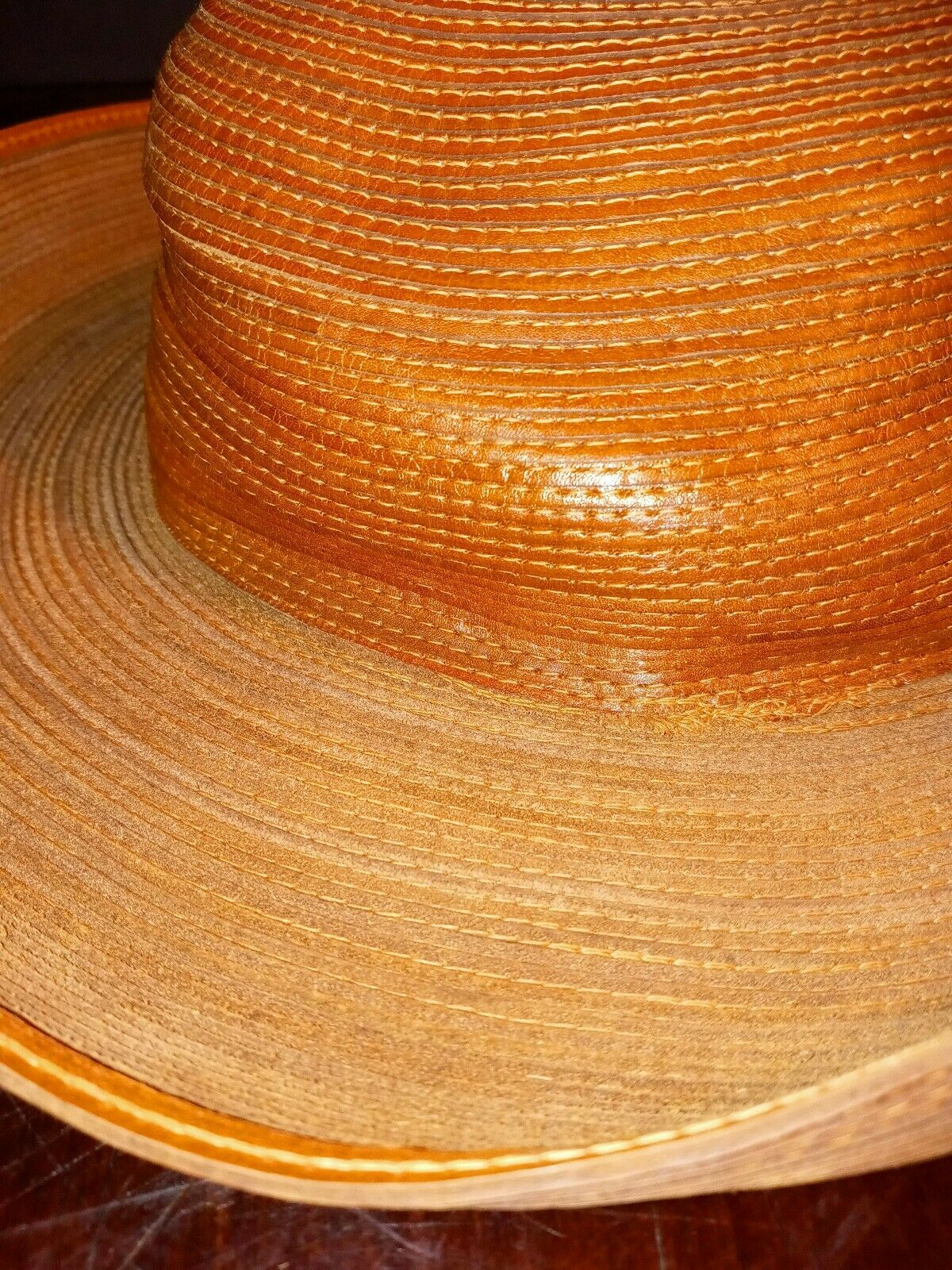 Patricia Underwood Hat Womens Wide Turned Brim Le… - image 8