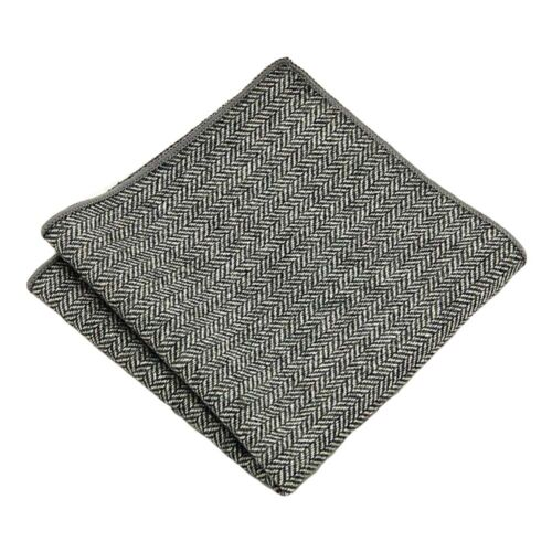 Men's Solid Color Wool Cotton Pocket Square Wedding Party Handkerchief Hanky