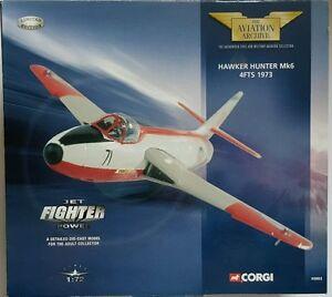 Corgi Aviation Jet Fighter Power Hawker Hunter Mk6 4FTS 1973 49803 1:72 NEW