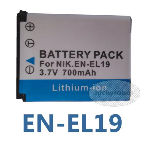 EN-EL19 ENEL 19 Batería para Nikon Coolpix S2500 S2700 S3500 S4400 S5200 S6500