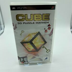 Cube 3d Puzzle Mayhem Sony Psp Pal Vgc Complete Ebay