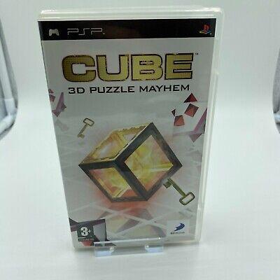 cube 3d puzzle mayhem psp