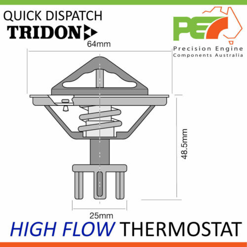 Diesel GQ GU Series II TD * TRIDON * High Flow Thermostat For Nissan Patrol