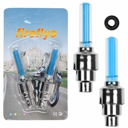 Universal LED Wheel Tyre Tire Valve Caps Neon Light Bulb For Bike Car Motorcycle