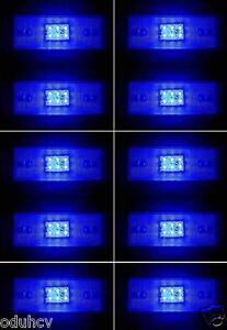 10 x 12V 6 Led Lato Luci Blu Frecce Camion Caravan Rimorchio Autocarro Autobus