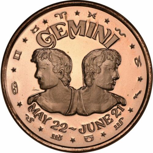 1 oz Copper Round Gemini