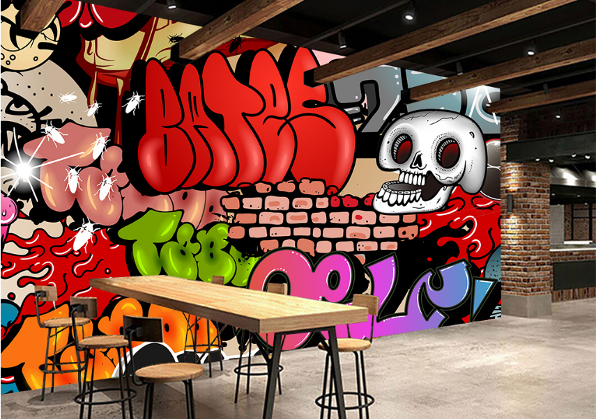 3D rot Cartoon Graffiti 775 Wall Paper Wall Print Decal Wall AJ WALLPAPER CA