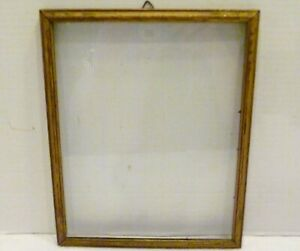10-034-X-8-034-VICTORIAN-Antique-WOOD-Wall-Art-PHOTO-PICTURE-FRAME-Gold-Tone-w-GLASS