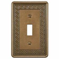 Wall Switch Plate Cover Toggle Greek Key Design Decora in Metallic Bronze