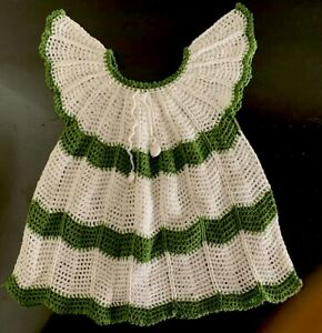 Crochê Feito à Mão Tricô Verão Vestido De Algodão Bebê