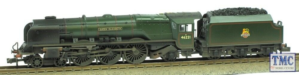 372-181A Farish N 46221 Queen Elizabeth, Coal, Glossed & Weathered