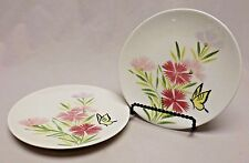 Vintage Red Wing Pottery Dinnerware Pink Spice set of 2 Bread & Butter Plates
