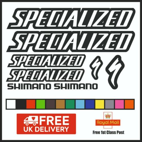 Specialized Vinyl Decals Stickers Set x 8 cadre de vélo Cycle Vélo Mtb Route DH