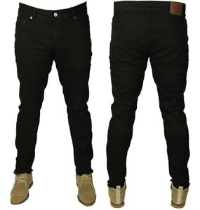 23942d811f MENS NEW ONLY & SONS BLACK SLIM FIT RIPPED JEANS STRETCH STRAIGHT ...