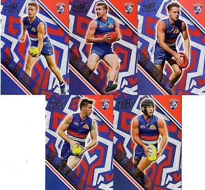 Bright 2018 Afl Select Legacy Western Bulldogs Holographic Foil Parallel 5 Cards Australian Football Cards