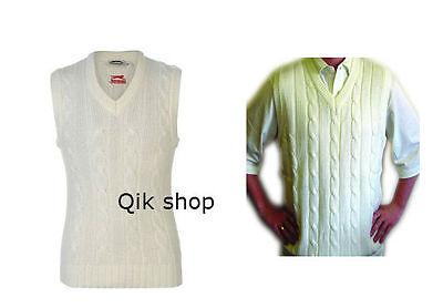 Slazenger Classic Sleeveless Knitted Sweater Jumper Mens V neck cricket top - S