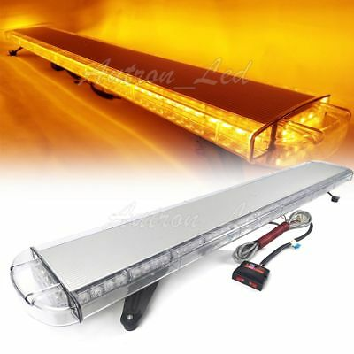 """55/"""" Inch 104W LED Amber Emergency Beacon Warning Signal Work Roof Toop Light Bar"""