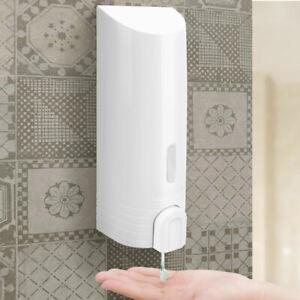 Dispenser Erogatore Sapone Liquido Parete Muro Bagno ABS Botiglia 380 ml Bianco