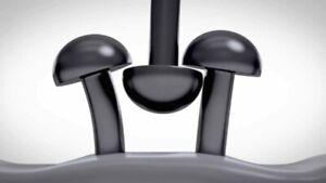 Dual lock SJ 3550/3560 3M™ fissaggio adesivo nero/trasparente in varie misure