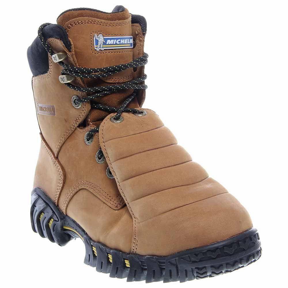 Michelin Men's Sledge Steel Toe Metatarsal Guard Boots Brown 13 D(M) US