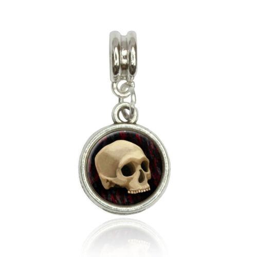 Gothic Human Skull Euro European Italian Style Bracelet Bead Charm