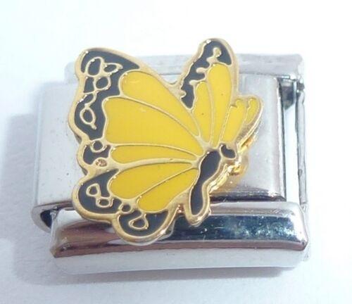 Amarillo Mariposa encanto italiano 9mm-se adapta Classic pulseras de arranque N14 de noviembre