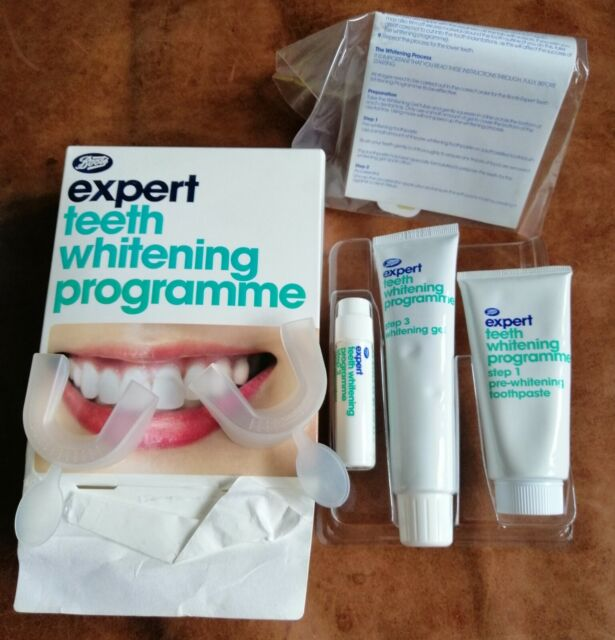 Boots Expert Teeth Whitening Programme New In Box Toothpaste Gel